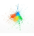 paint splashing vector image vector image