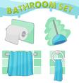 Bathroom Symbol icon set C vector image