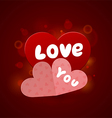 Beautiful valentine vector image