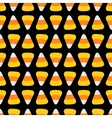Candy corn Happy Halloween Seamless Pattern Black vector image