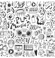 Music party seamless background vector image