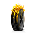 One Burning Tire vector image