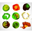 Set of watercolor label bubble vector image
