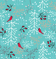 Winter forest seamless pattern vector image