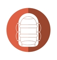 rafting water sport adventure camping button vector image