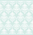 damask seamless pattern background pastel blue vector image vector image