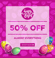 easter egg sale banner background template 16 vector image