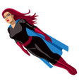 super heroine flying vector image vector image