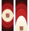 Abstract red labels vector image