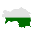 Map and flag of Styria vector image vector image