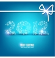 new year card 2012 made from snowflakes christmas  vector image vector image