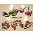 japanese food symbols vector image