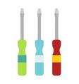 Set of screwdriver hand tool worker instruments vector image