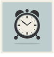 Alarm Clock on Retro Blue Background vector image