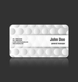 business card bumps vector image