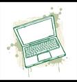 Grunge Notebook vector image