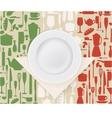 Italian restaurant menu and poster design vector image