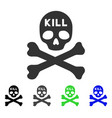 kill death flat icon vector image