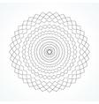 Round ornament vector image