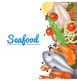 Seafood Menu Background vector image