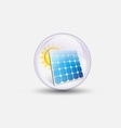 solar cell bubble water clear vector image