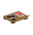 sushi delicious japanese food vector image