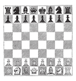 Chess vintage engraving vector image vector image