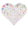 pharmacy fireworks heart vector image