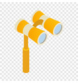 elegant theater binocular isometric icon vector image