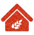 grain warehouse icon grunge watermark vector image