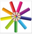 rainbow multicolored pencils for your vector image
