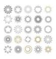 Set of handmade sunburst design elements vector image