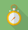 Stopwatch icon Modern Flat style with a long vector image