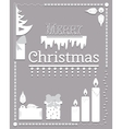 Typographic Christmas text and Design element vector image