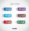 USB Flash disk vector image