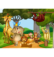 Wild animals living in the forest vector image