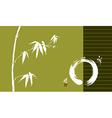 Zen circle and bamboo vector image