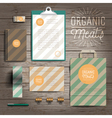 Corporate identity stationery print template vector image