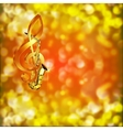 Saxophone Music and treble clef on a blurred vector image