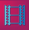 reel of film sign  blue 3d printed icon on vector image