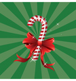 Christmas candy cane with bow vector image