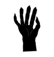 isolated scary hand vector image