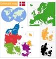 Denmark map vector image