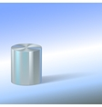 Cylinder with reflections on colored background vector image vector image