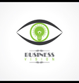 vision and idea concept- eye with lightbulb symbol vector image vector image