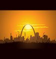 St Louis Sunset vector image