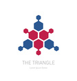 Abstract Triangle - logo design template Business vector image
