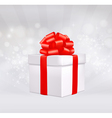 christmas background with gift box vector image vector image