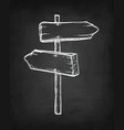 chalk sketch of signpost vector image
