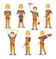 Construction engineering industrial workers vector image
